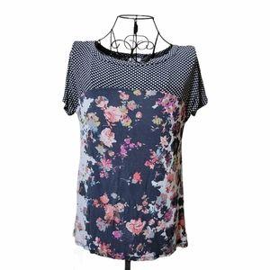 ANTHROPOLOGIE Westinghouse mixed print top